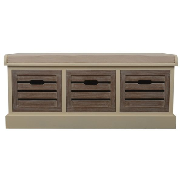 Melody 3-drawer Storage Bench with Cushion home furnishings