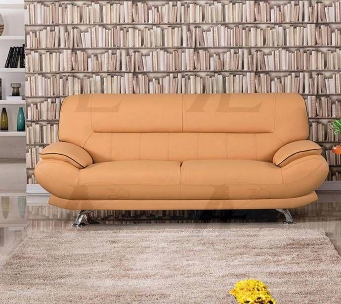 American Eagle Furniture Lansing: American Eagle Furniture EK-B118-YO Yellow Genuine Leather