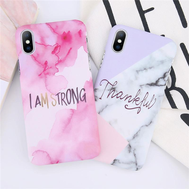 I Am Strong Quote iPhone Case Marble iphone case, Iphone