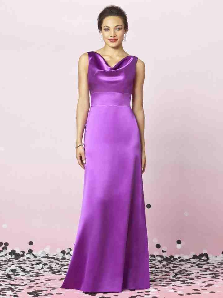Cheap Modest Bridesmaid Dresses | purple satin | Pinterest