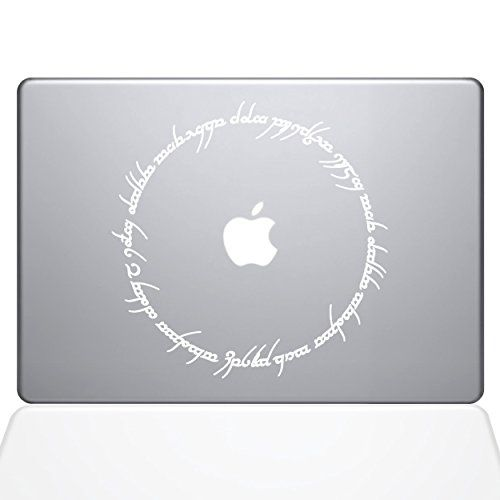 Amazon com lord of the rings inscription 13 macbook air white decal sticker computers accessories