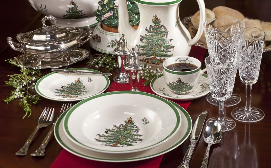 I Love My Spode Christmas Tree Dishes Christmas Tableware Christmas Dinnerware Spode Christmas