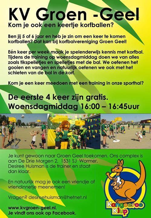 Groen Geel Korfbal