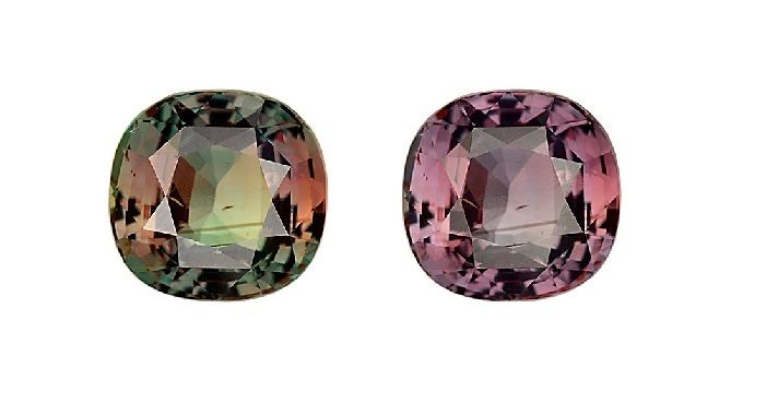 Cushion Alexandrite 5.09 cts. GIA certified Bluish Green changing to Pinkish Purple By The Rare Gem LLC