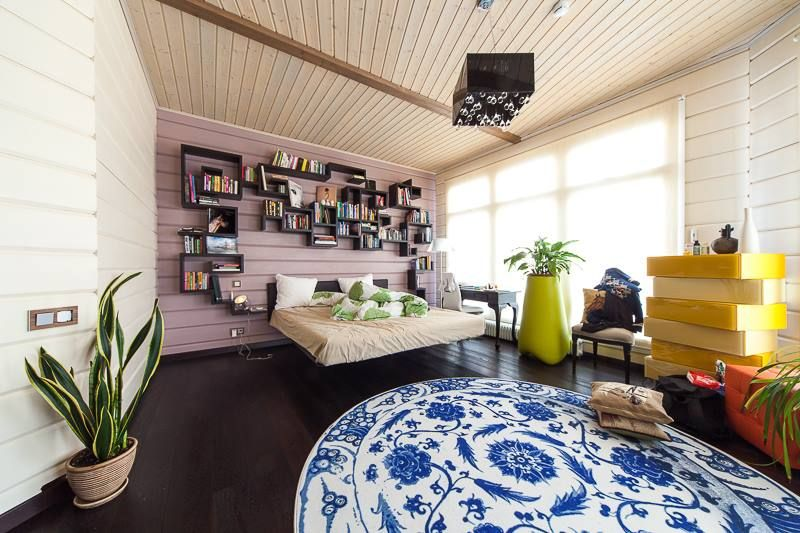 Eclectic style. Lagolinea + Fluttua Bed + Morgana Storage LAGO #bedroom by #lagodesign