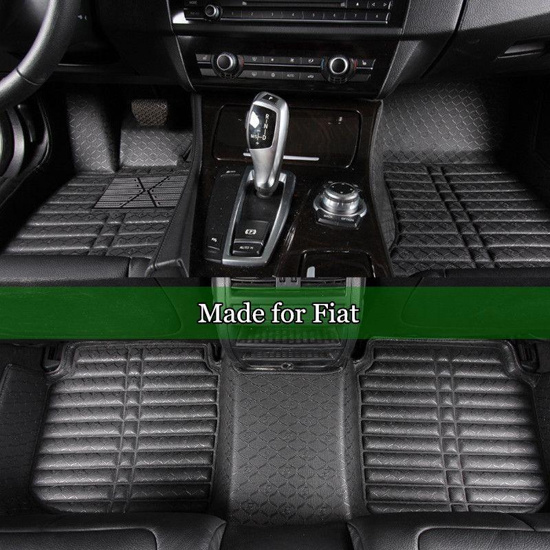 Leather Car Floor Mats For Fiat 500 Viaggio Freemont Bravo Ottimo Coil Mats Waterproof Floor Carpet Tpr Full Cover Car Floor Mats Waterproof Rug Waterproof Car