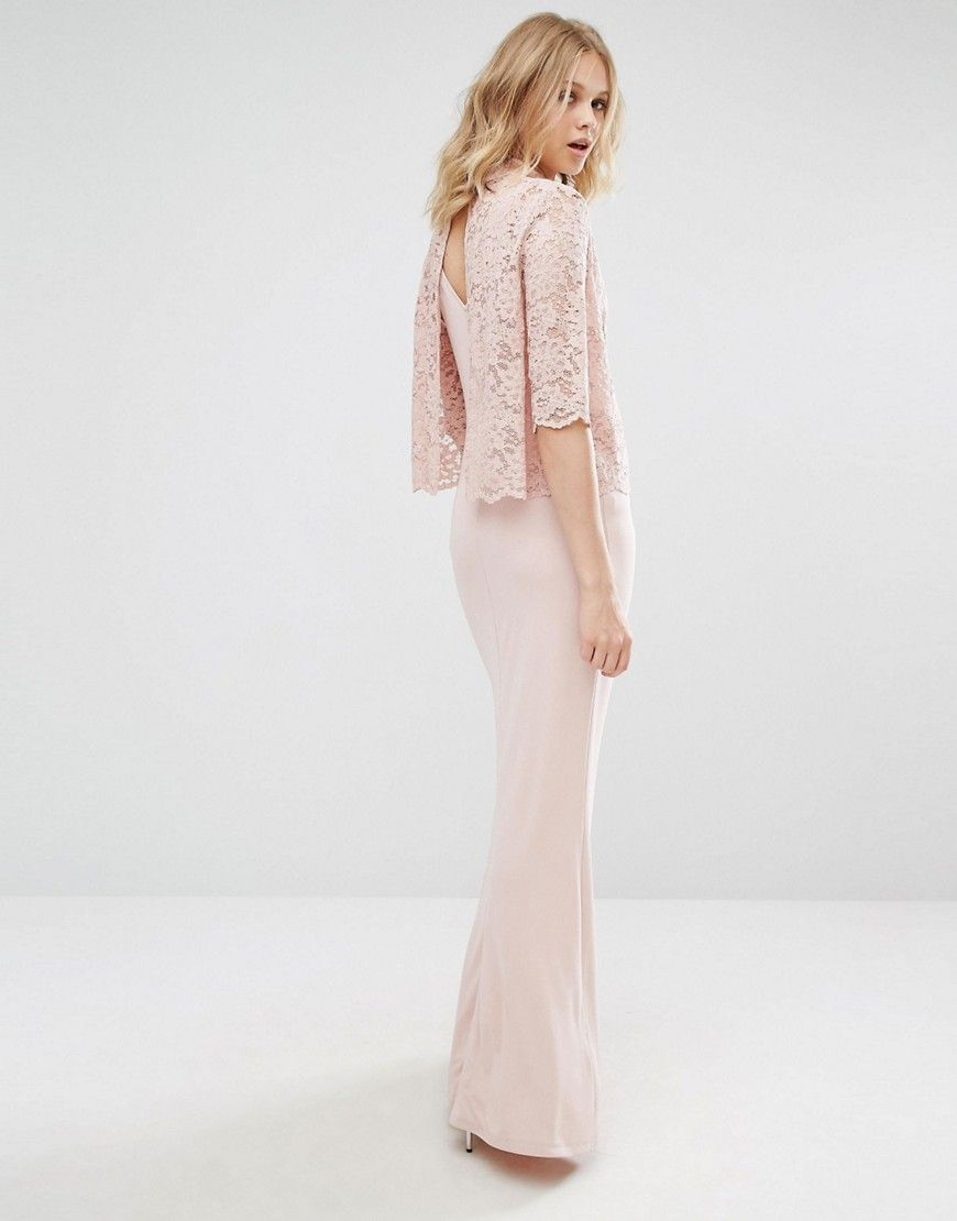 Thurley wedding dress  Mango High Neck Lace Top Maxi Dress  Pink  cookbook  Pinterest