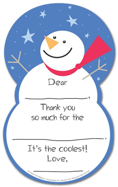 Fill In The Blank Christmas Thank You General Kids Stationery Kids