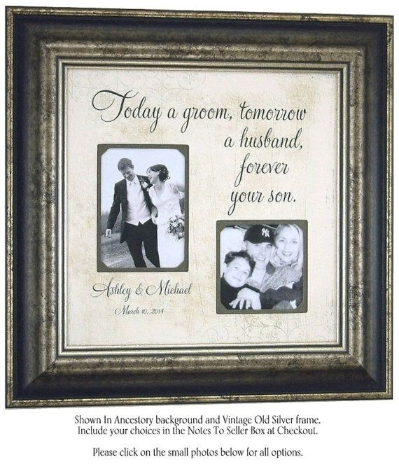 Personalized Wedding Gift, Picture Frame, GROOM Sign, Parents, Today ...