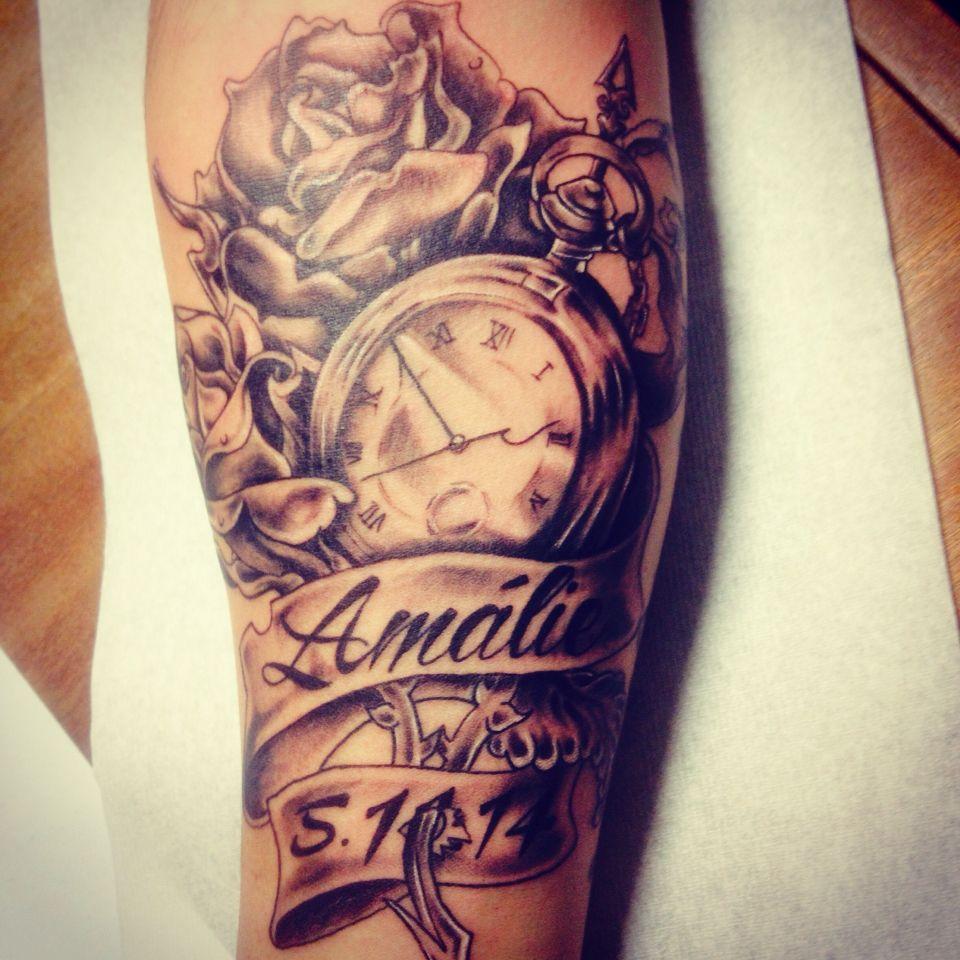 Tattoo Namen, Taschenuhr