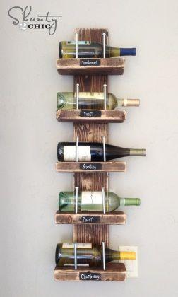 Come organizzare la cucina 50 idee salvaspazio for Portabottiglie vino fai da te