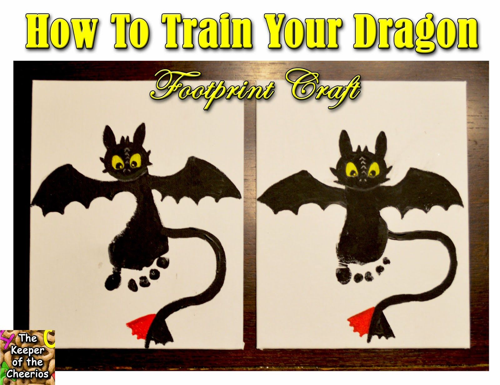 The Keeper of the Cheerios: How to Train Your Dragon Footprint Craft