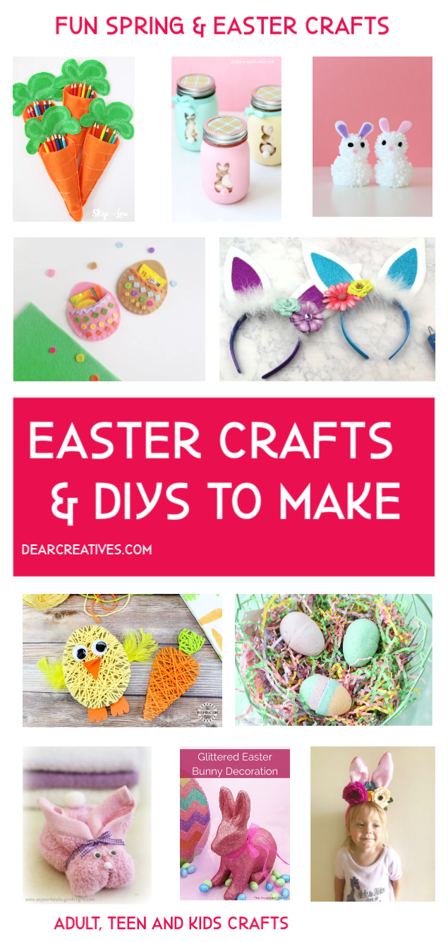 Easter Ideas To Make Fun Spring And Easter Crafts Crafts Spring