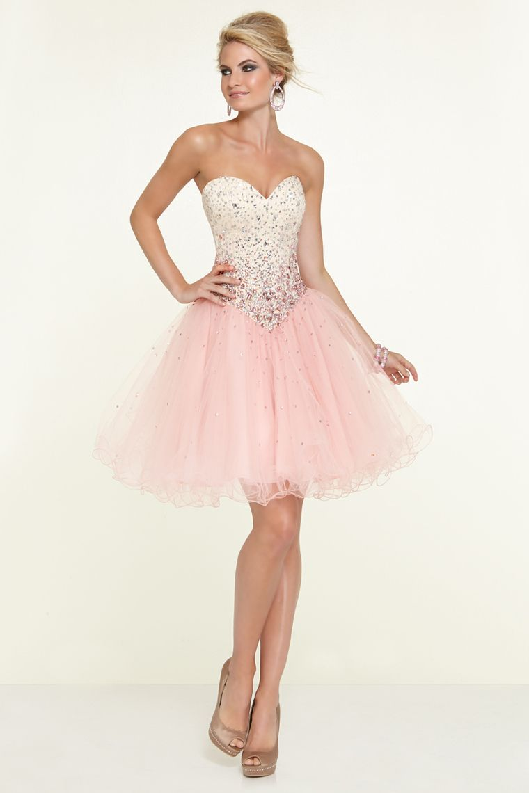 sweetheart a line shortmini prom dress with full beaded bodice