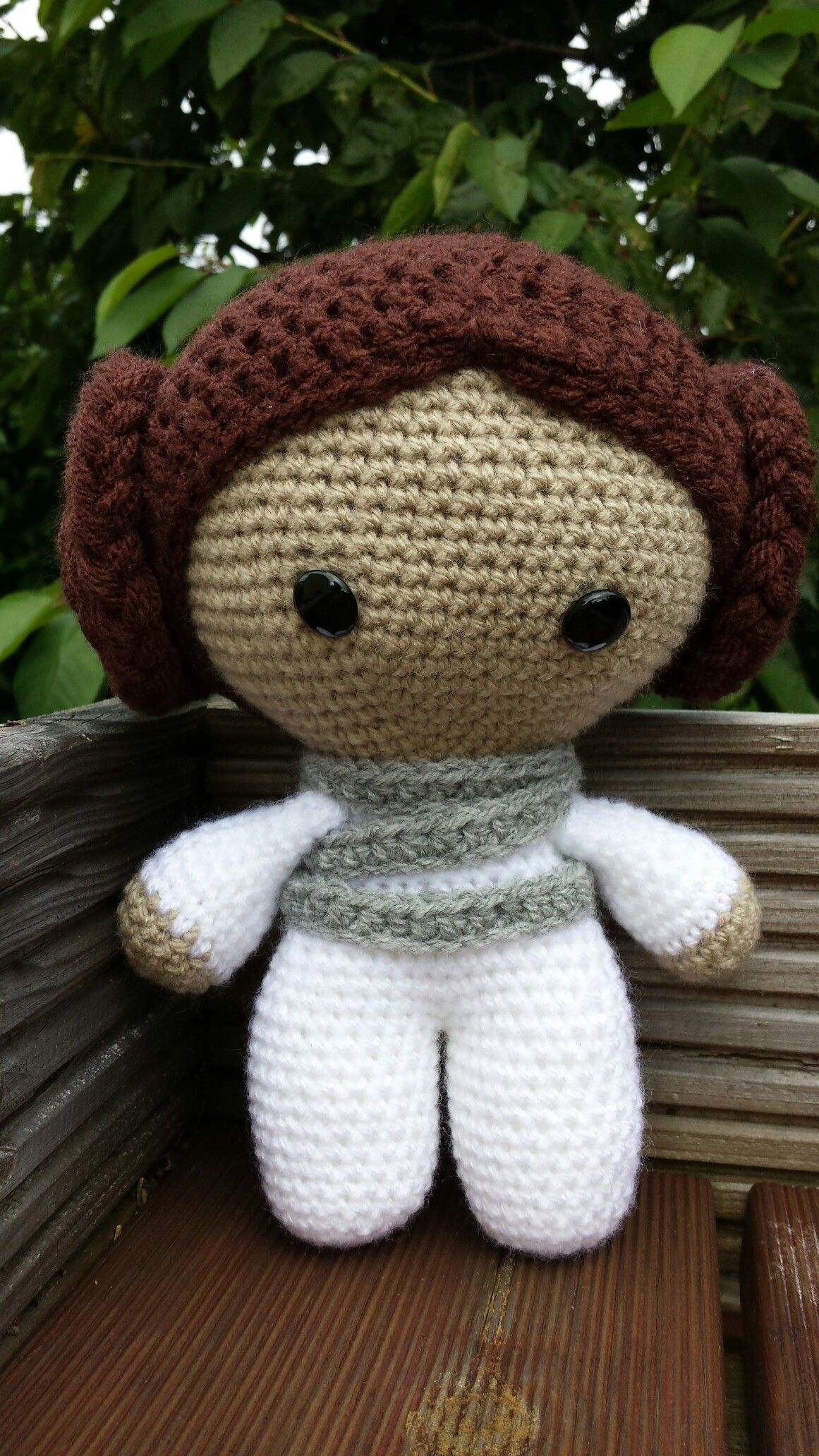 Crochet Amigurumi Head : Princess Leia Big Head Baby Doll jess crochet ...
