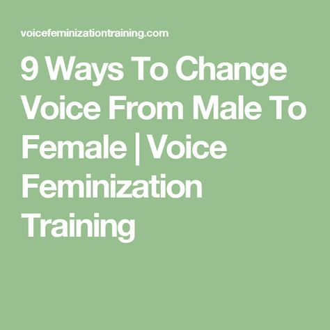 How to change discord voice to female