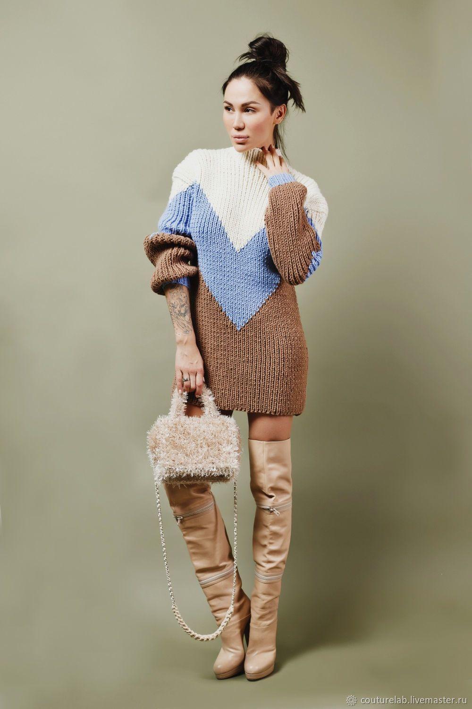 1ed546f6a42 Свитер-платье ручной работы – купить или заказать в интернет-магазине на  Ярмарке Мастеров