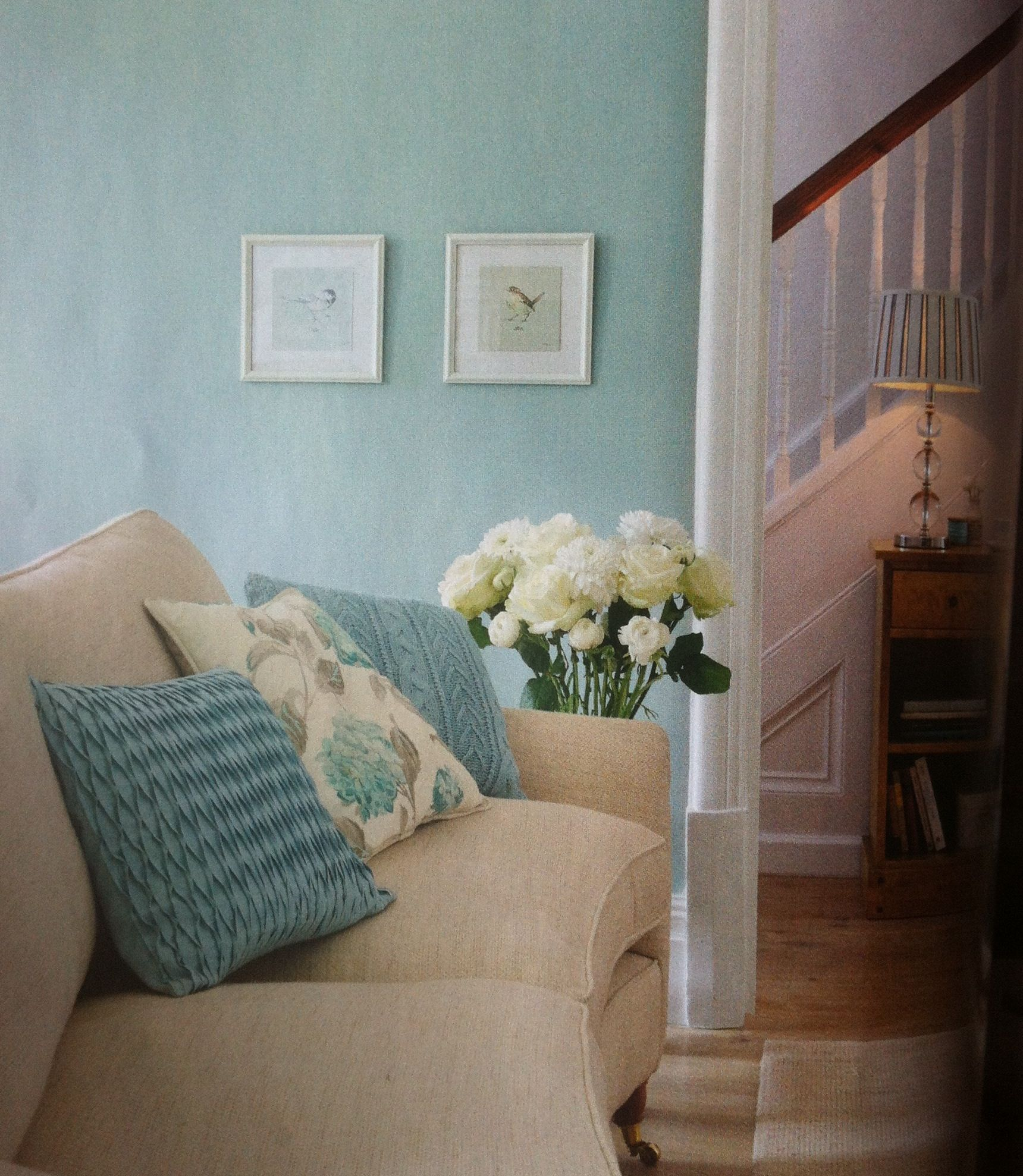 Definitely going for a duck egg blue lounge now i have a cream sofa loving these blue cushions - Deco lounge blue duck ...