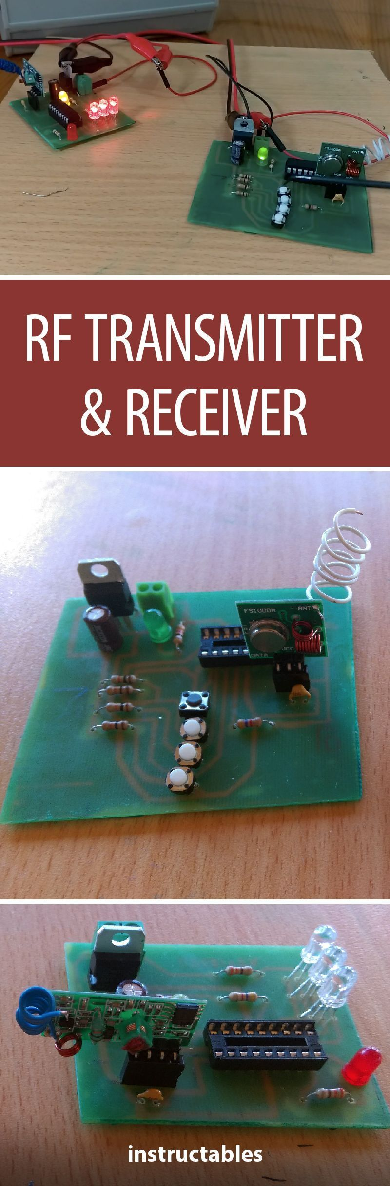 Rf Transmitter And Receiver Diy Pinterest Electronics Projects Project Books To Learn On Learning About Explore Tinkering When You All Radio Waves Building An Radiowaves