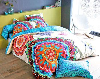 linge de lit esprit boh me becquet housse de couette pinterest linge de lit linge et boh me. Black Bedroom Furniture Sets. Home Design Ideas