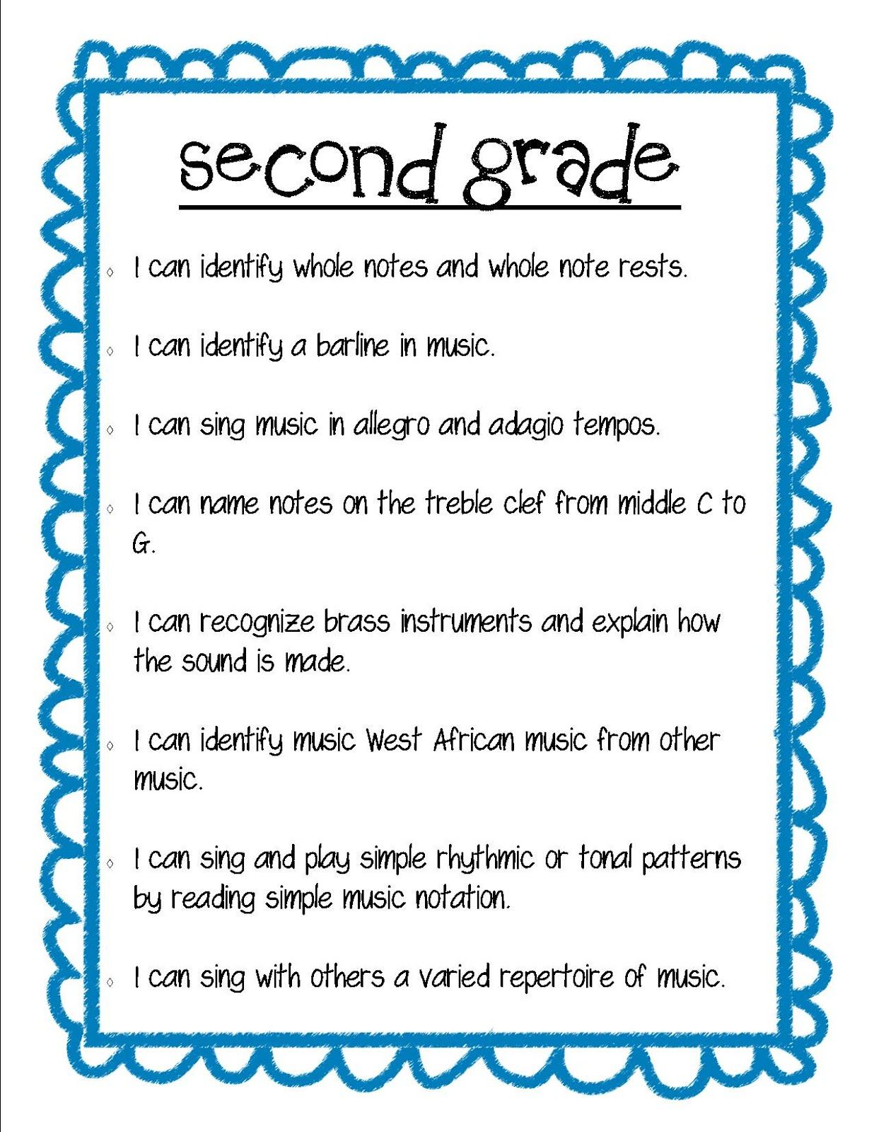 medium resolution of Lesson Objectives   Elementary music lessons