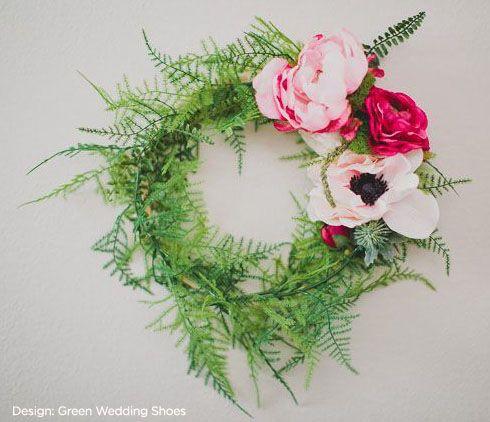 "White 17.5/"" Anemone Silk Flower Stem pack of 12"