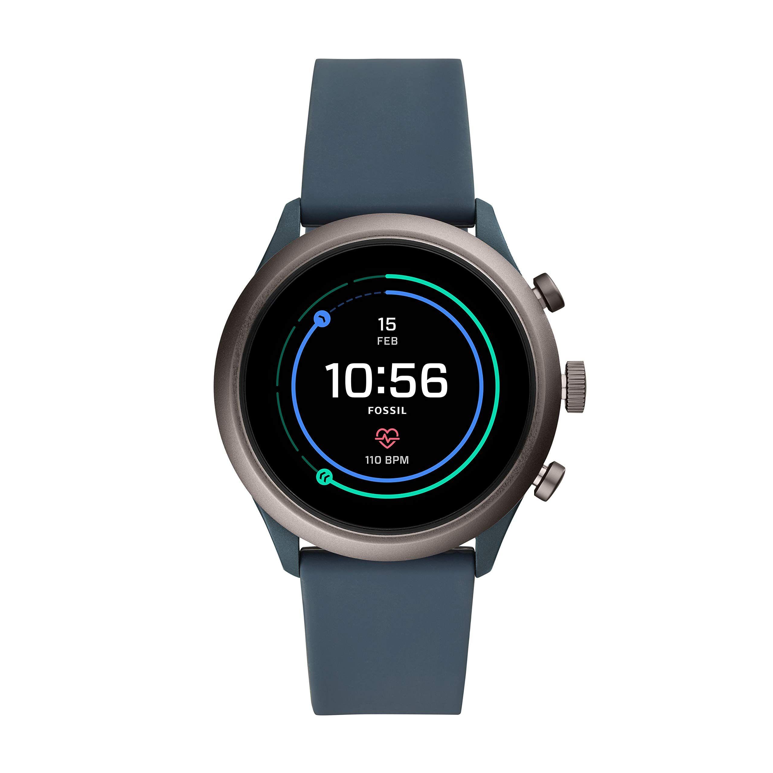 Smartwatch Da Uomo Fossil Con Cinturino In Silicone