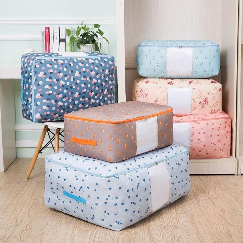 Oxford Quilt Storage Bags,Beddings//Blanket Organizer Storage Containers,Breathable and Moistureproof.