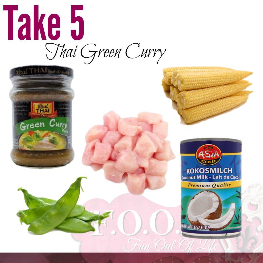 take 5 thai green curry SCRUMMY!