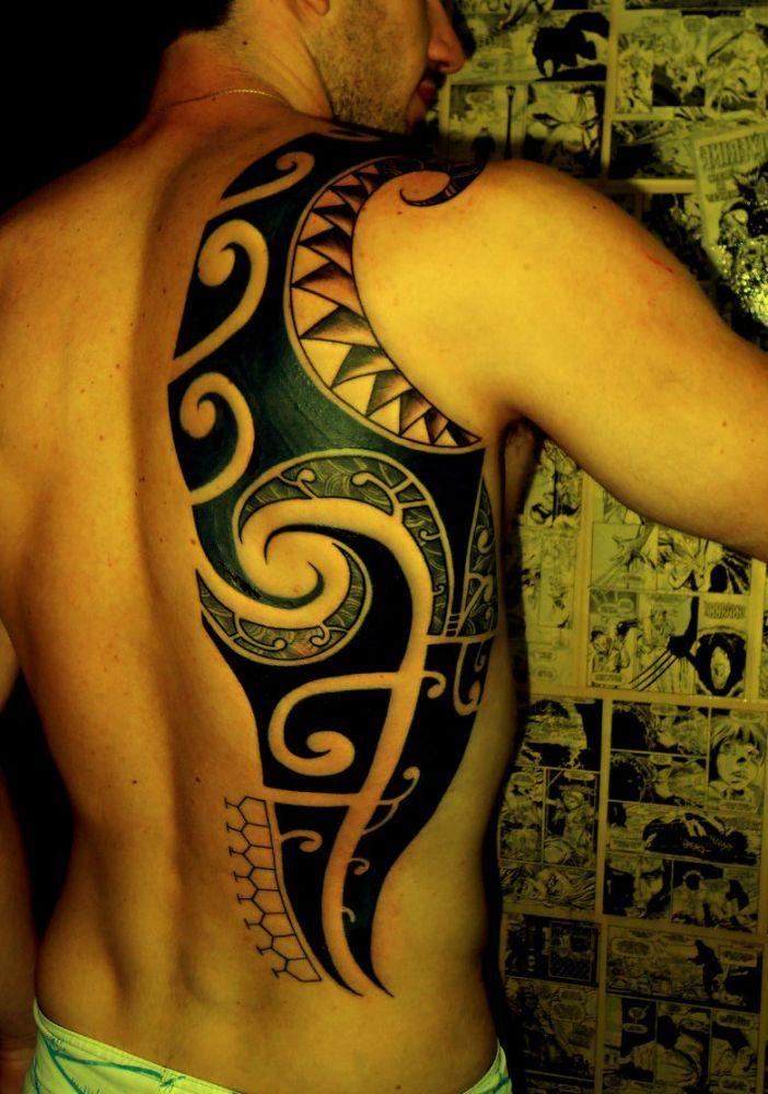 Maori Back Tattoo: Maori Tattoos On Back #tattoos