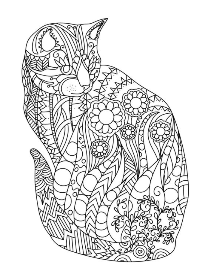 Zentangle Animals Inspiration To Get Started Tangling In 2020 Zentangle Coloring Pages In 2020 Cat Coloring Book Cat Coloring Page Emoji Coloring Pages