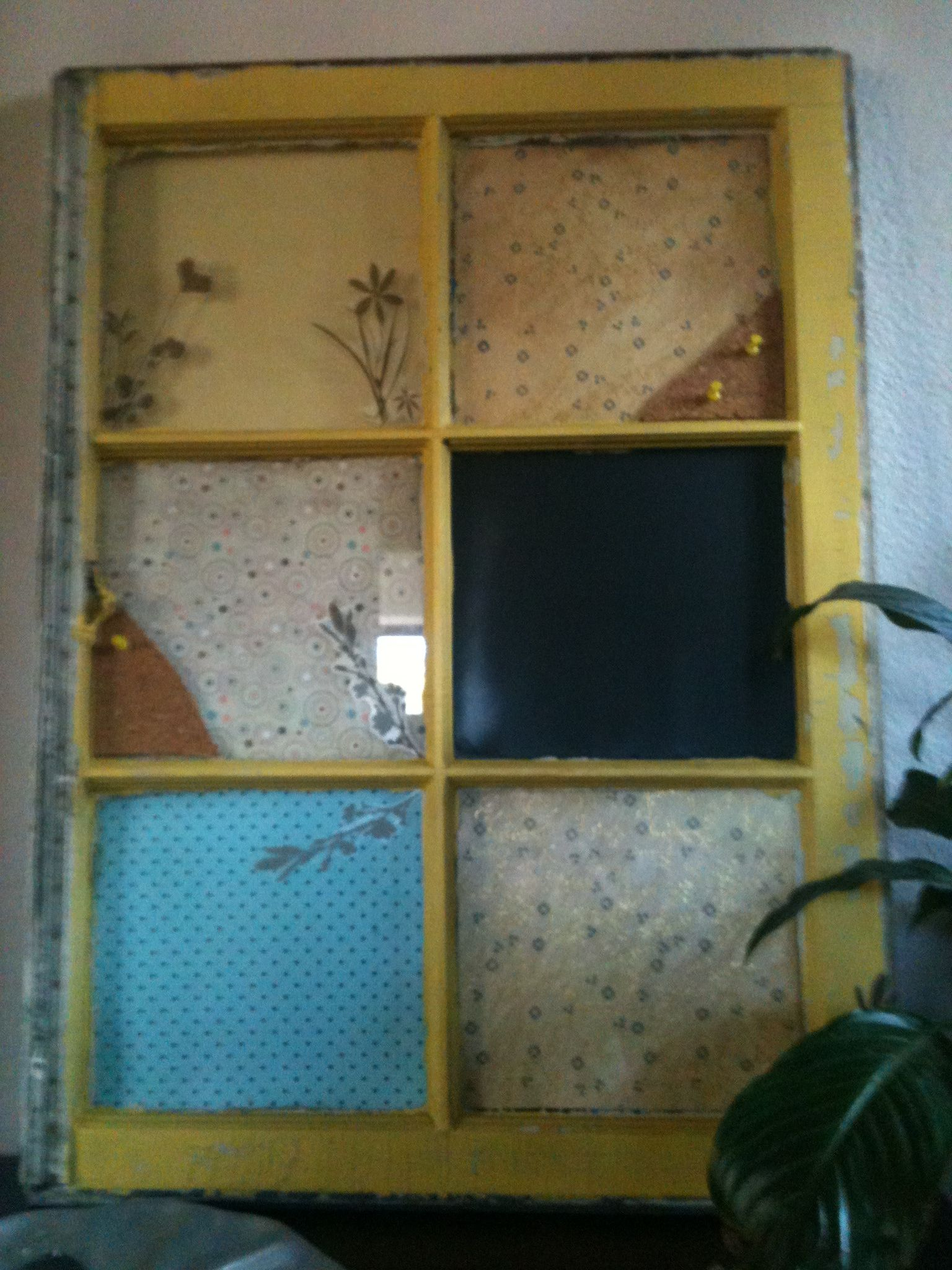 Upcycled window reclaimed frame chalkboard paint craft paper upcycled window reclaimed frame chalkboard paint craft paper cork cut outs jeuxipadfo Image collections