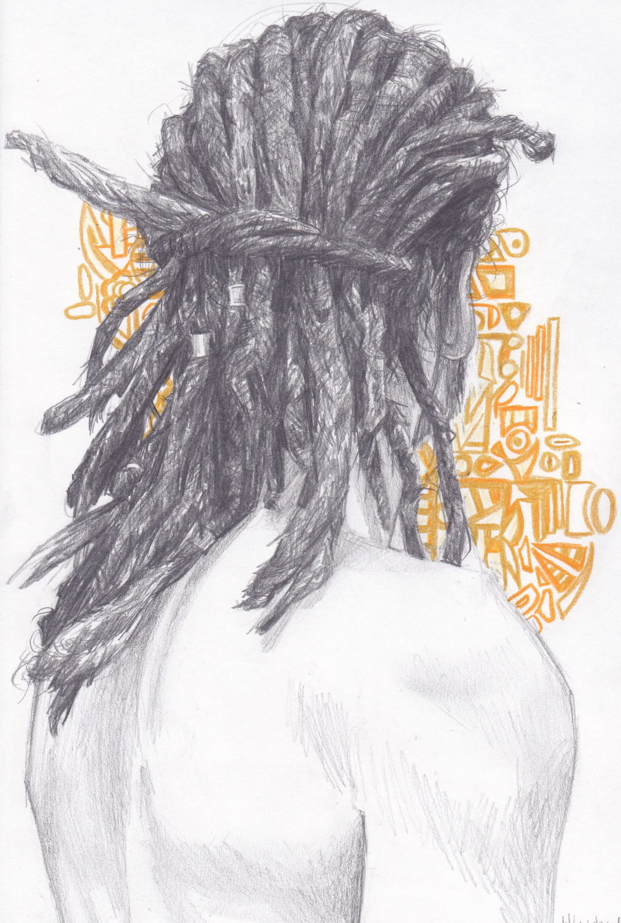 Dreads This On A Guy, From The Backahhhhh Huge Turn