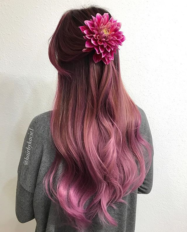 Beautiful Natural Dark Brown To Pink Hair Hair Pinterest Pink