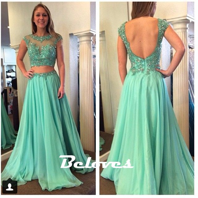 """Fabric:Chiffon Silhouette:A+Line Color:Light+Green+ Embellishments:Beading Sleeves:Long+Sleeves Back+Detail:+Open+Back Custom+Made+:+We+also+accept+custom+made+size+and+color+.+Please+click+the+""""contact+us+""""and+send+your+size+and+color+to+our+email+.+Or+just+leave+a+message+to+us+when+placi..."""