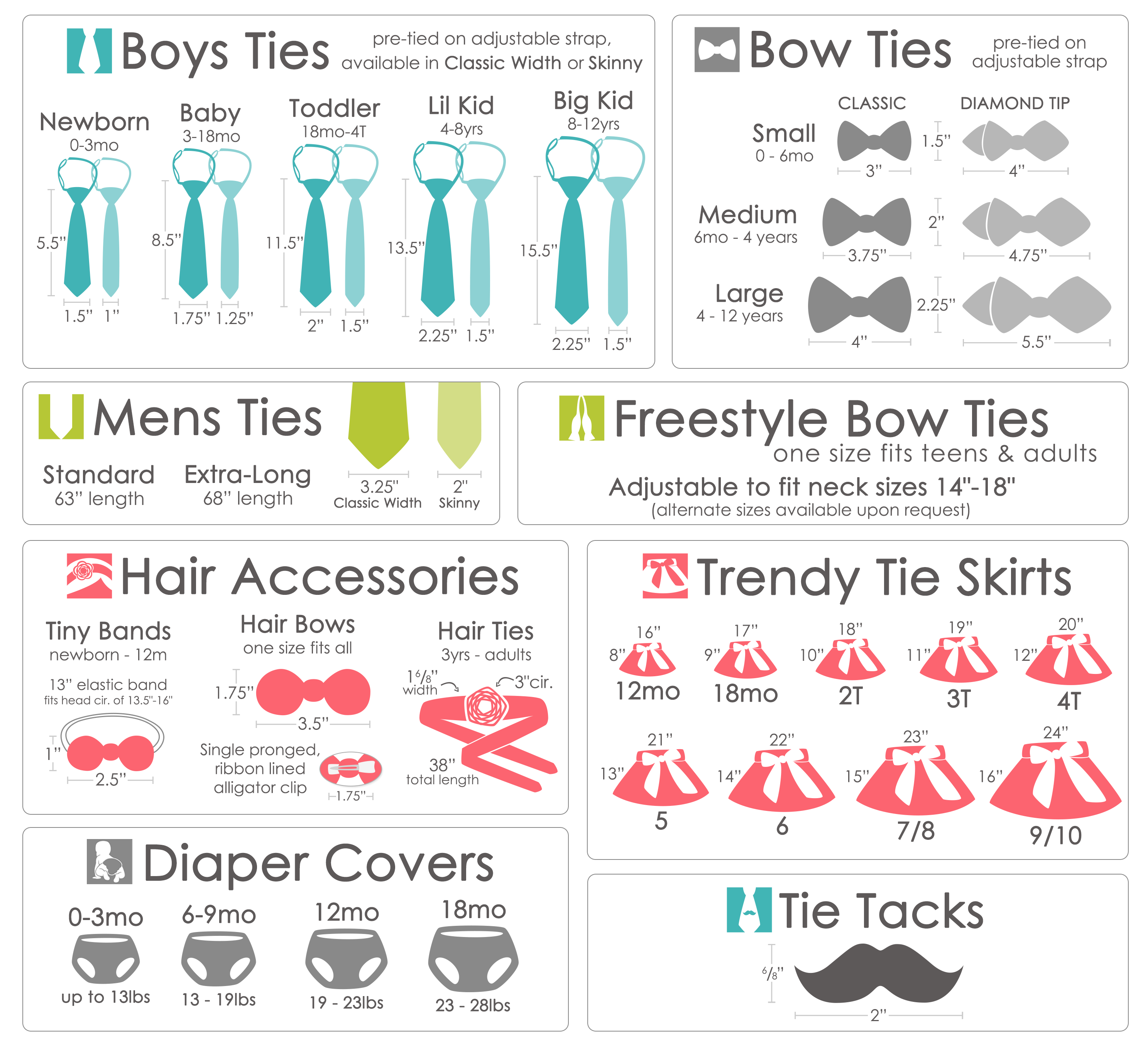 Bow Tie Size Chart