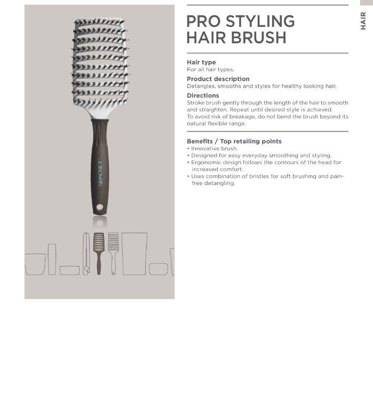 Pro Styling Hair Brush Seacret Hair Brush Seacret Body Care