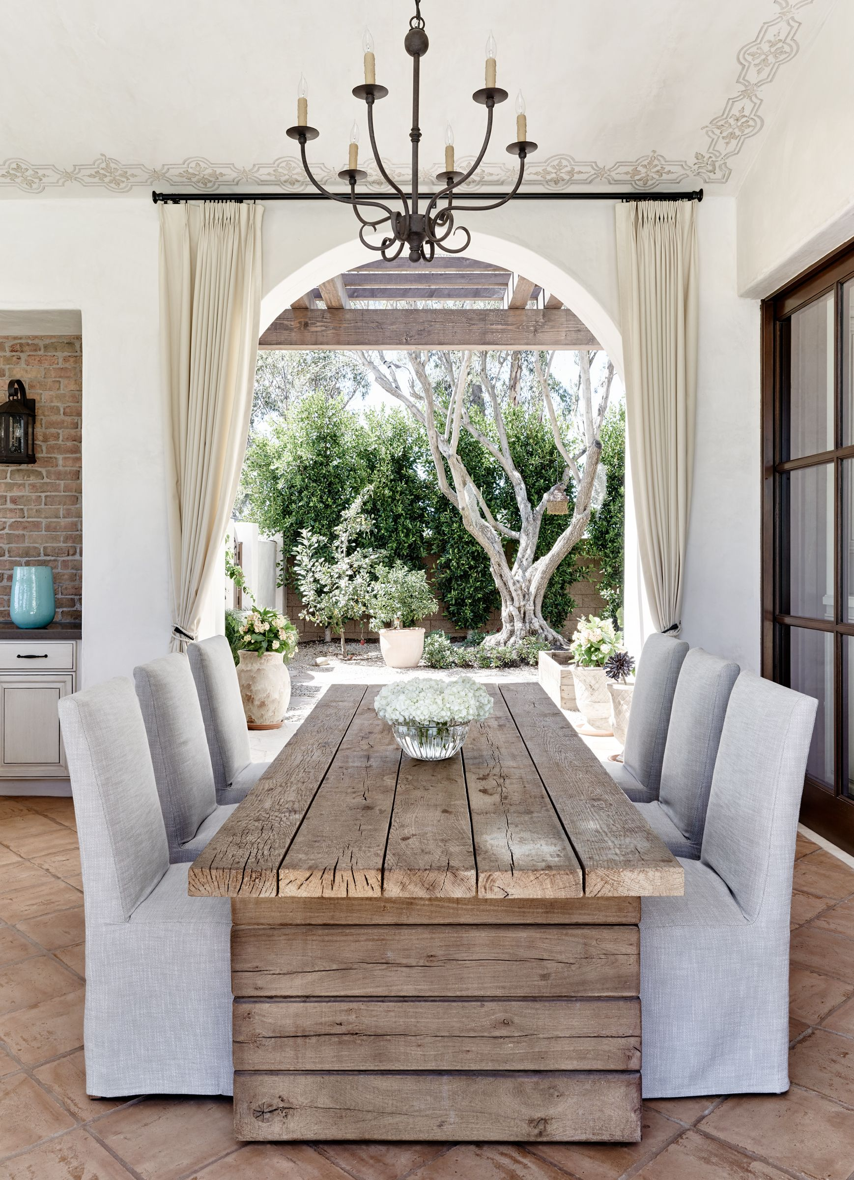 Table and stencils on ceiling | Decorating - French Decor ...