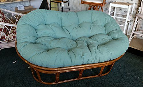 loveseat mamasan itm double s ny loading sofa up pick w cushion papasan rattan local is wicker image