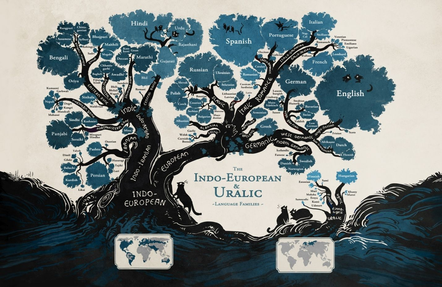 """From the Webcomic """"Stand Still Stay Silent"""". I love hoe Frisian and Scots are both tiny little branches heading towards English, So d'you think if I learned the dialect of my mom's ancestors, I'd have a better understanding of my Dads ancestors? :P"""