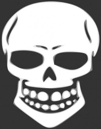 Skull template for t-shirt cutout
