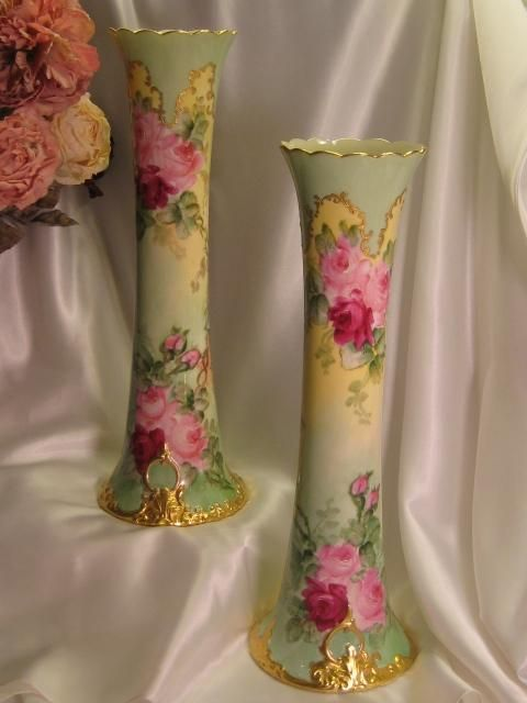 Exceptional Willets Belleek Trumpet Vase 1 Impressive 15 78