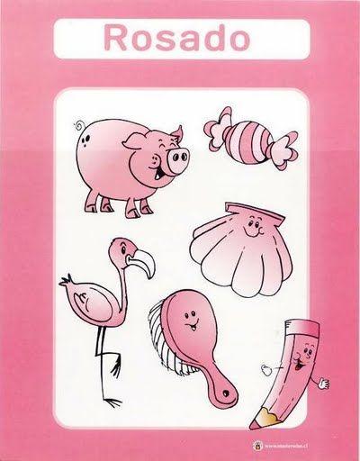 Color Rosado Fichas Infantiles Para Aprender Los Colores Imprimir