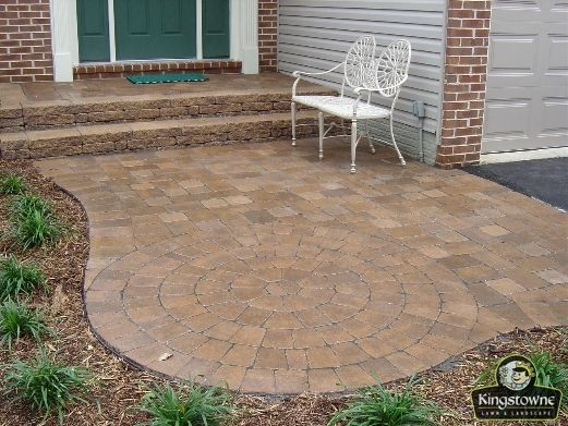 Paver Stoop Amp Walkway Using Ep Henry Coventry Pavers