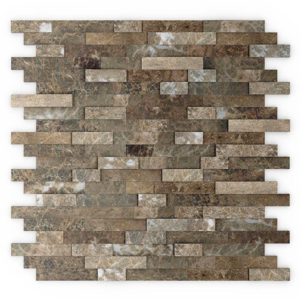 Inoxia SpeedTiles Bengal 11.75 in. x 11.6 in. Stone Adhesive Wall ...