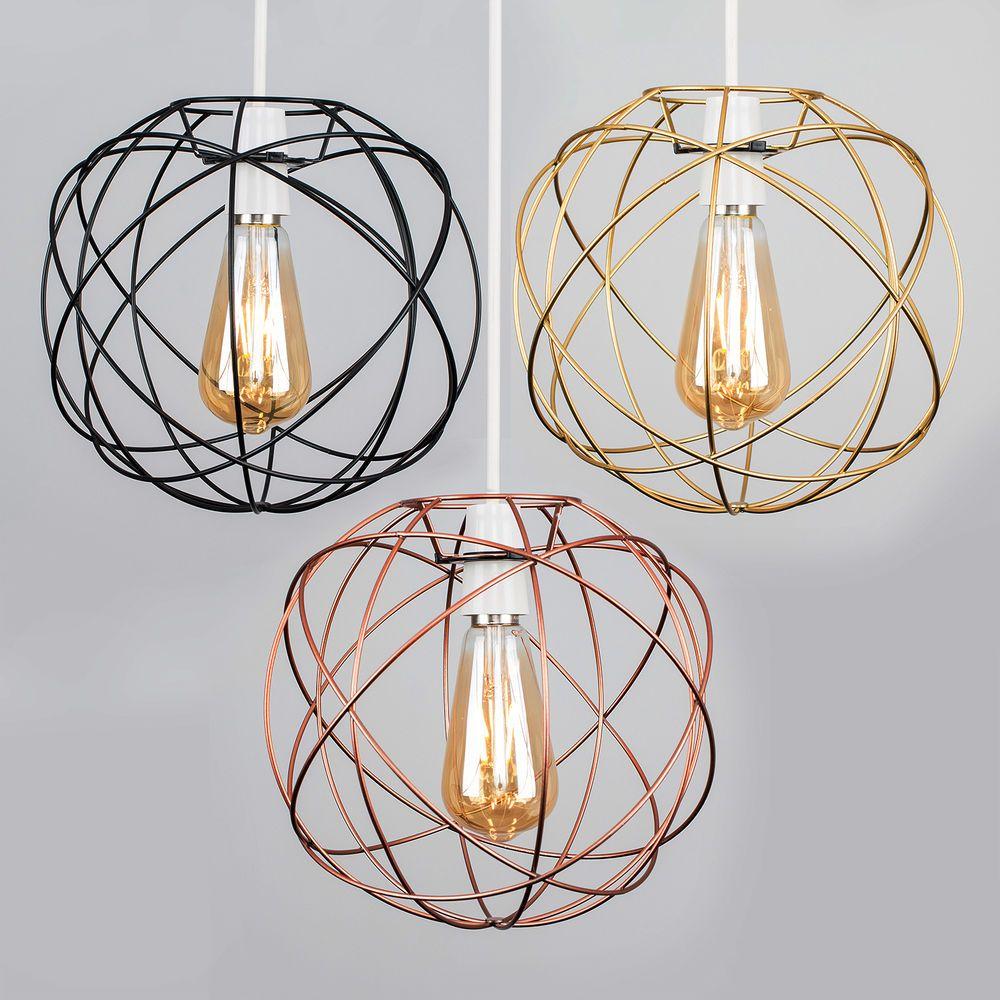 Details About Geometric Sphere Led Ceiling Pendant Light