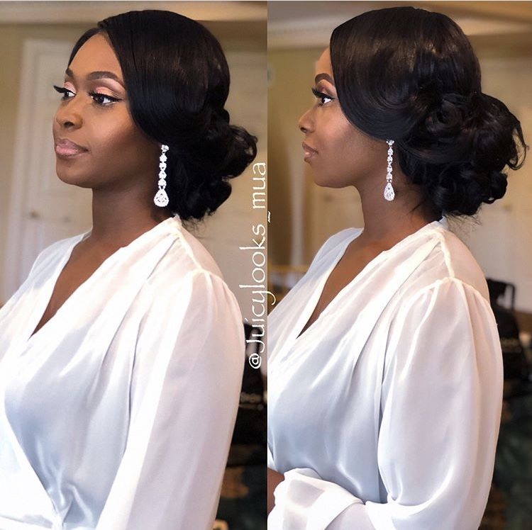Pin By Tasia Mccoy On Wedding Hairstyles Black Wedding Hairstyles Black Bridesmaids Hairstyles Bride Hairstyles Updo