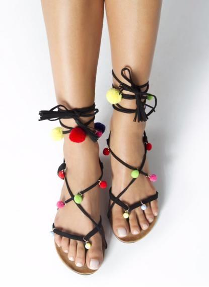 Boho Sandaly Z Pomponami W Super Cenie 49 Zl Dostepne Na Www Qpony Pl Znajdziesz Tutaj Https Www Qpony Pl Deezee Q 2110 Shoes Heels Boots Heeled Boots Shoes