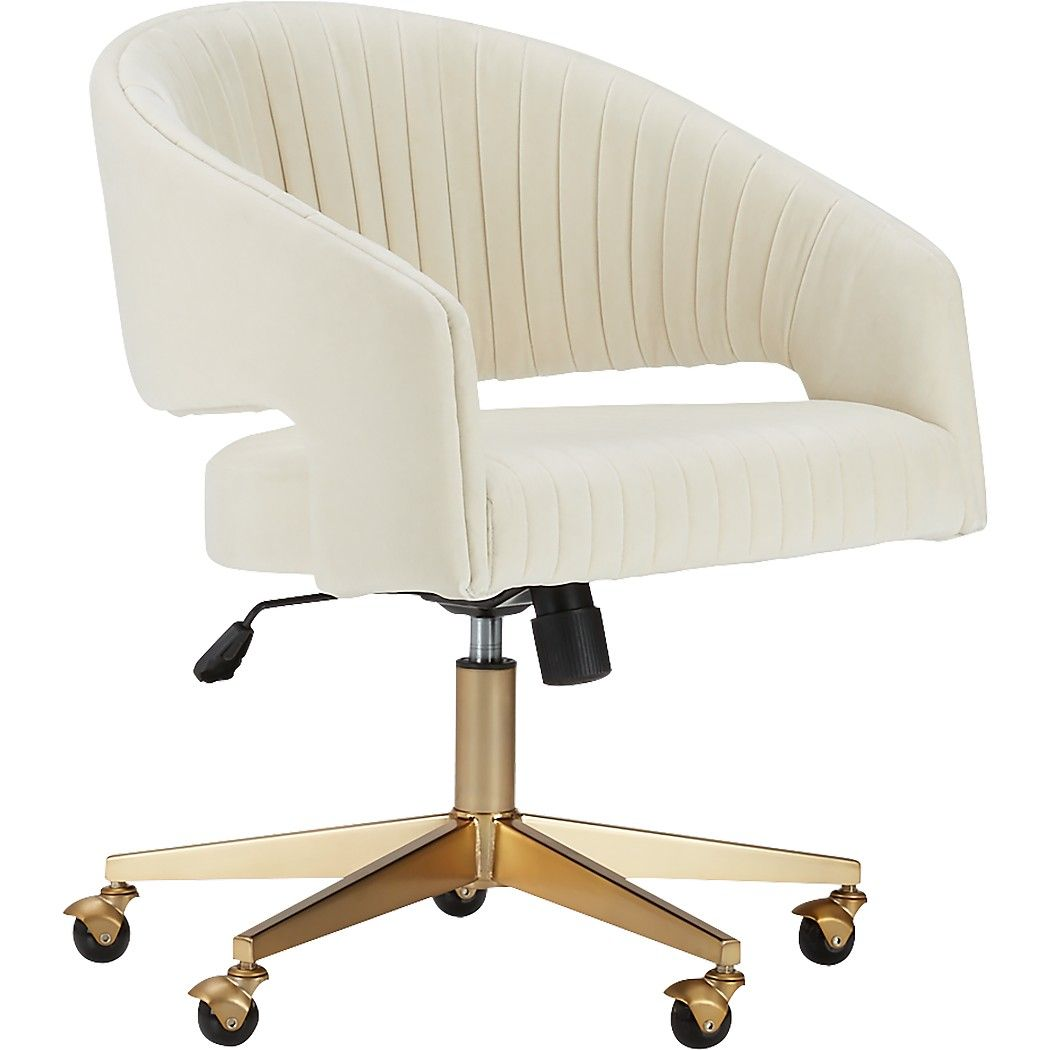 Channel ivory velvet office chair reviews cb2 most