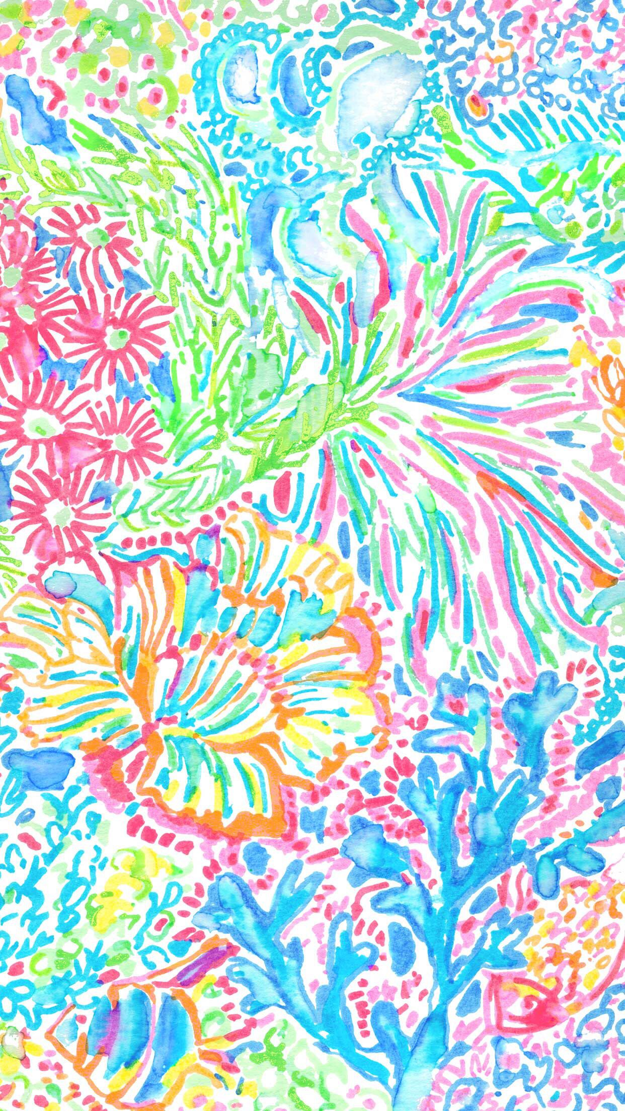 Lovers Coral Lilly Pulitzer Lilly Pulitzer Iphone Wallpaper